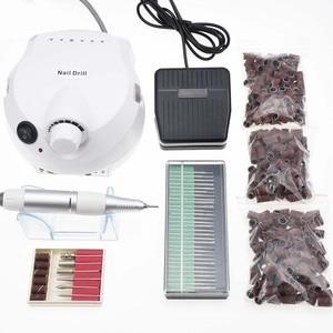 Image 1 - 35000/20000RPM Electric Nail Drill Machine Electric Manicure Machine Drills Accessory Pedicure Kit Nail Drill File Bit Nail Tool