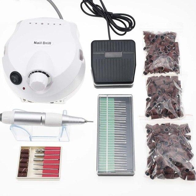 35000/20000RPM Electric Nail Drill Machine Electric Manicure Machine Drills Accessory Pedicure Kit Nail Drill File Bit Nail Tool