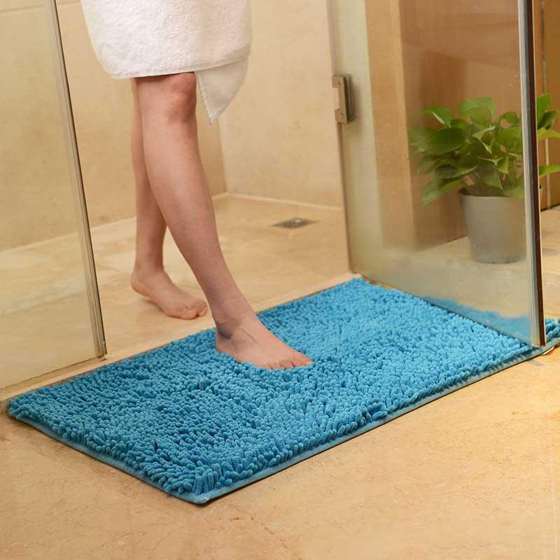 Chenille Bath Mat Non-slip Large Water Absorption Bathroom Rugs Carpet For Living Room Non Slip Kitchen Area Rugs Floor Mat