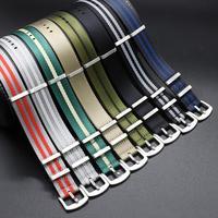 Nylon Seatbelt Uhr Band Hohe Qualität Nato Strap James Bond Military Armband für Uhr Ersatz 20mm 22mm