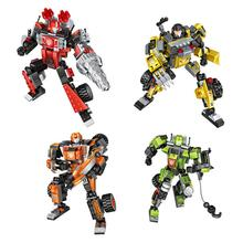 hot LegoINGlys creators technic super 3in1 robot mini micro diamond building blocks Mech vehicles model bricks toys for gifts