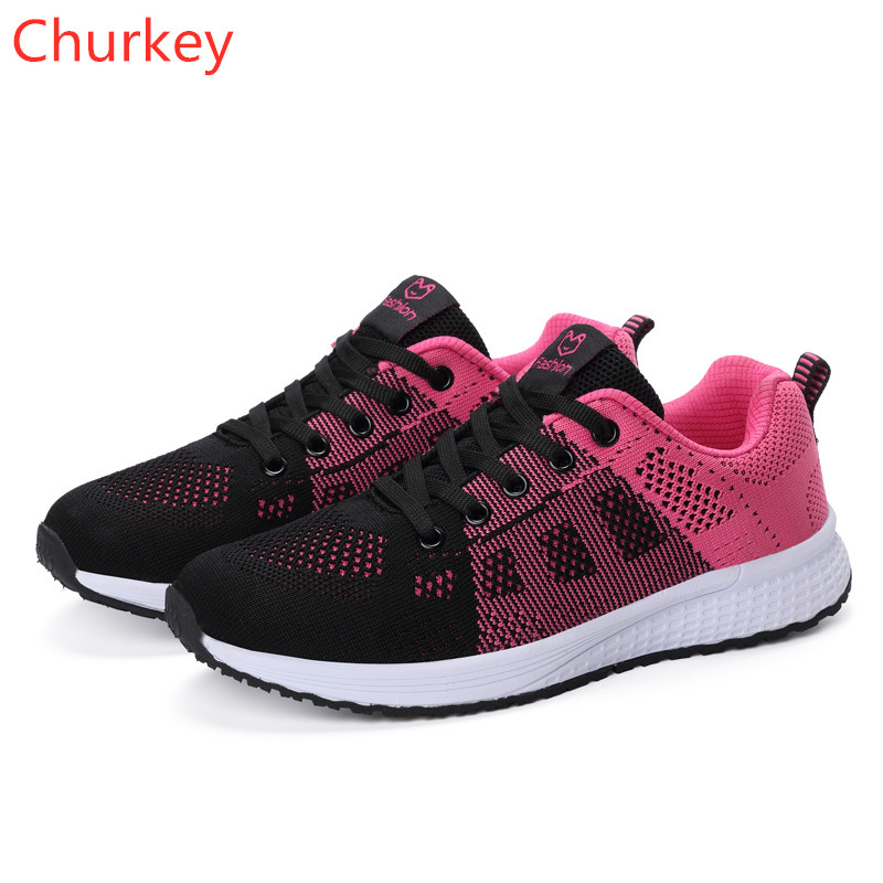 Women Casual Shoes Womens Sneakers Shoes 2018 Fashion Breathable Spring Autumn Womans Shoes Women Platform Shoes Women Sneakers in Women 39 s Vulcanize Shoes from Shoes