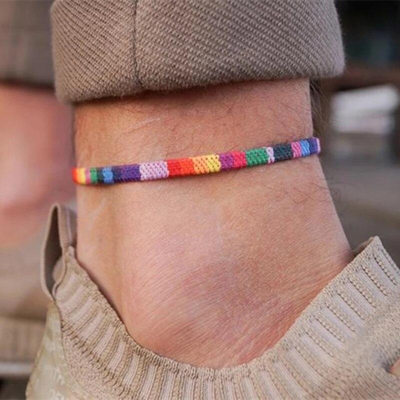 Модный ножной браслет для мужчин и женщин, праздничные ювелирные изделия в стиле бохо, браслет на лодыжку для женщин и мужчин, бисексуальные...