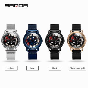 Image 5 - SANDA 2019 New Top Brand Men Watches Mens Mesh Belt Waterproof Casual Quartz Date Clock Male Wrist watch relogio masculino