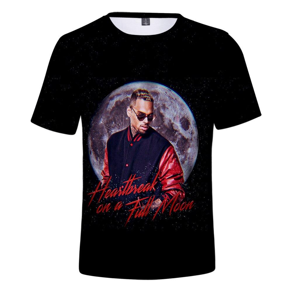 New Chris Brown T- Shirt 3D Men/Women T-Shirt Chris Brown Short Sleeve Tee Boys/Girls Tshirt Summer Breathable Tee Hot Fashion