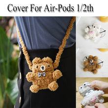 Lovely Pets pig Plush Anti-lost Protective Cover Skin Case For AirPods1/2th Gift Shockproof Earphone Protective Cover accessory(China)