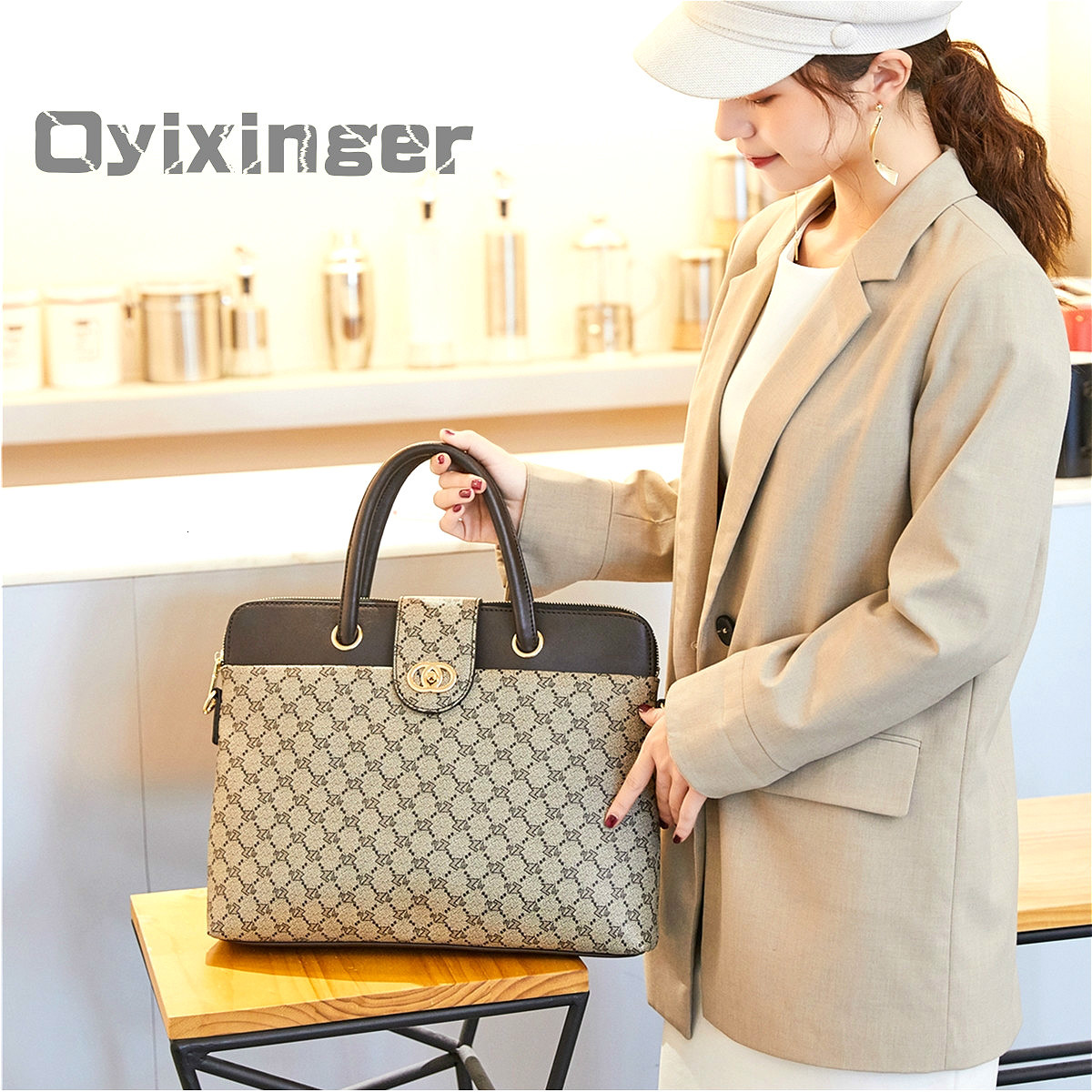 2020 Fashion Women's Leather Briefcases Women Laptop Briefcase Work Office Bag Ladies Crossbody Bags For Woman Business Handbags| | - AliExpress