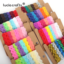 Lucia Crafts  8mm Grosgrain Ribbon For hair bow Wedding Christmas Party Decor Craft  (with card)  6y/lot,1y/color W0602