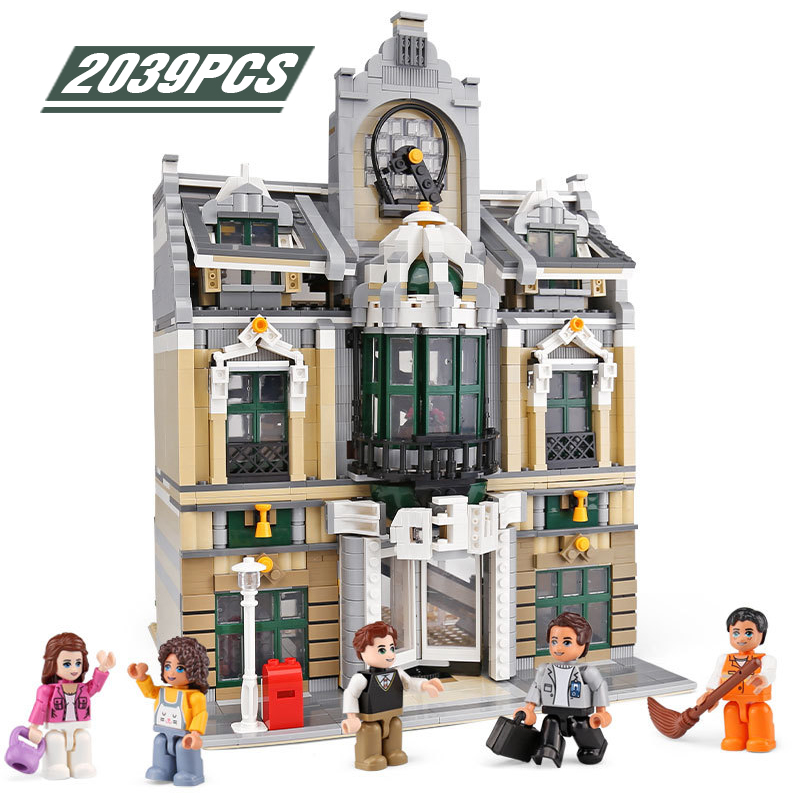 Technic Architecture Building Blocks Creator Expert European Business City <font><b>10270</b></font> 10264 Bricks Gift for Kids image