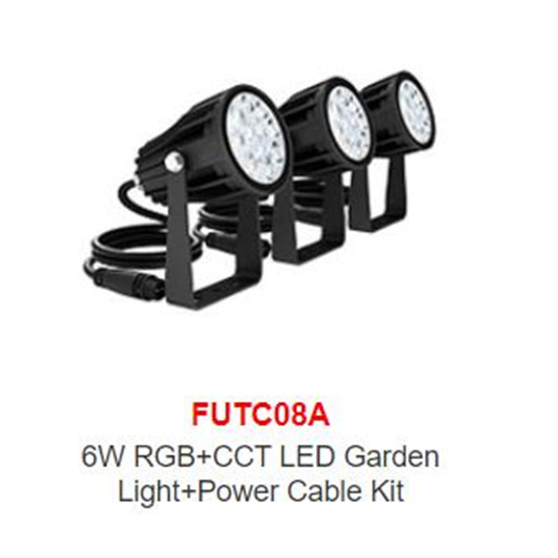 Miboxer FUTC08A DC24V 6W RGB+CCT LED jardin Garden Light outdoor + 65W led Power Supply +FUT088 2.4G wireless RF Remote control