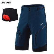 ARSUXEO Mountain Bike Cycling Shorts Men DH MTB Downhill Loose Fit Optional 3D Padded Underwear