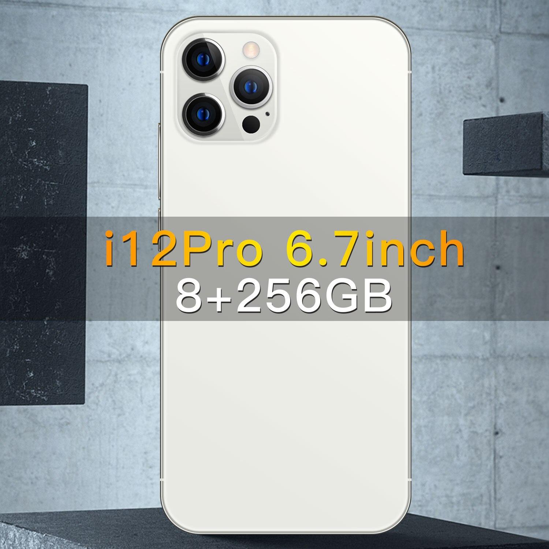 Смартфоны i12Pro 6,7 дюймов 6800 мА/ч, Две сим-карты 12 Гб Оперативная память 512 ГБ ROMAndriod10.0 16 ГБ + 32 ГБ, Мп 4 аппарат не привязан к оператору сотовой свя...