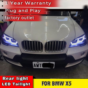 Image 3 - New Car Styling for BMW X5 e70 2007 2013 Headlight LED DRL LOW/HIGH Beam H7 HID Xenon bi xenon lens for BMW X5 Head Lamp Auto