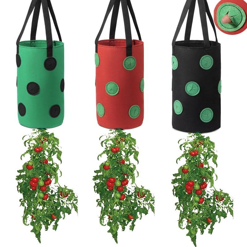 3 шт., мешок для выращивания клубники, нетканый материал, вертикальный садовый подвешивающий растительный мешок, растительный картофель, се...