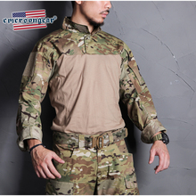 emersongear Blue Label Tactical Combat Assault Shirt Outdoor Sports BDU Tops Camoflage Military Army Airsoft Hunting Mens Tops недорого