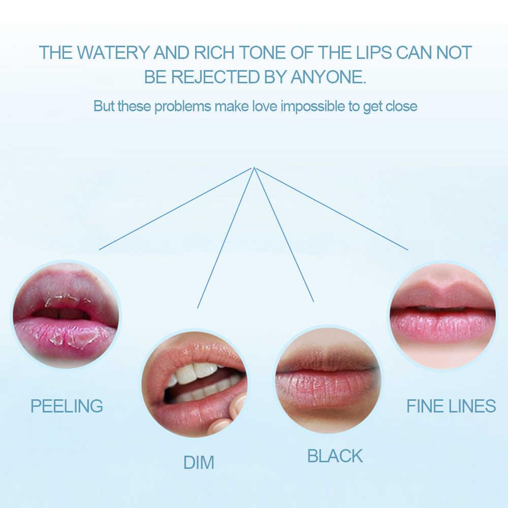 1 שקית שפתיים שינה מסכת לילה שינה ויטמין מזין שפתני טבולה שפתון שפתיים ורודות 5 פעמים מזין אפקט TSLM1