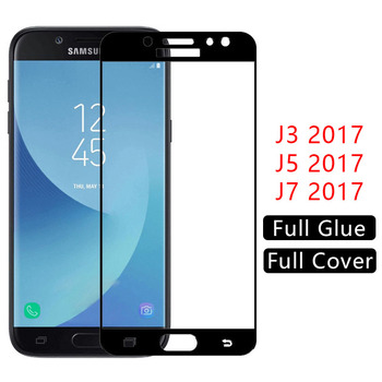 case for samsung J3 J5 J7 2017 cover tempered glass screen protector on galaxy J 3 5 7 3J 5J 7J J32017 J52017 J72017 phone coque image