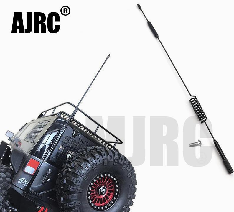 1PCS 190 290mm RC Car Metal Decorative Antenna for 1:10 RC Crawler Axial SCX10 90046 Traxxas D90 D110 TRX-4 RC4WD TRX-6 G63