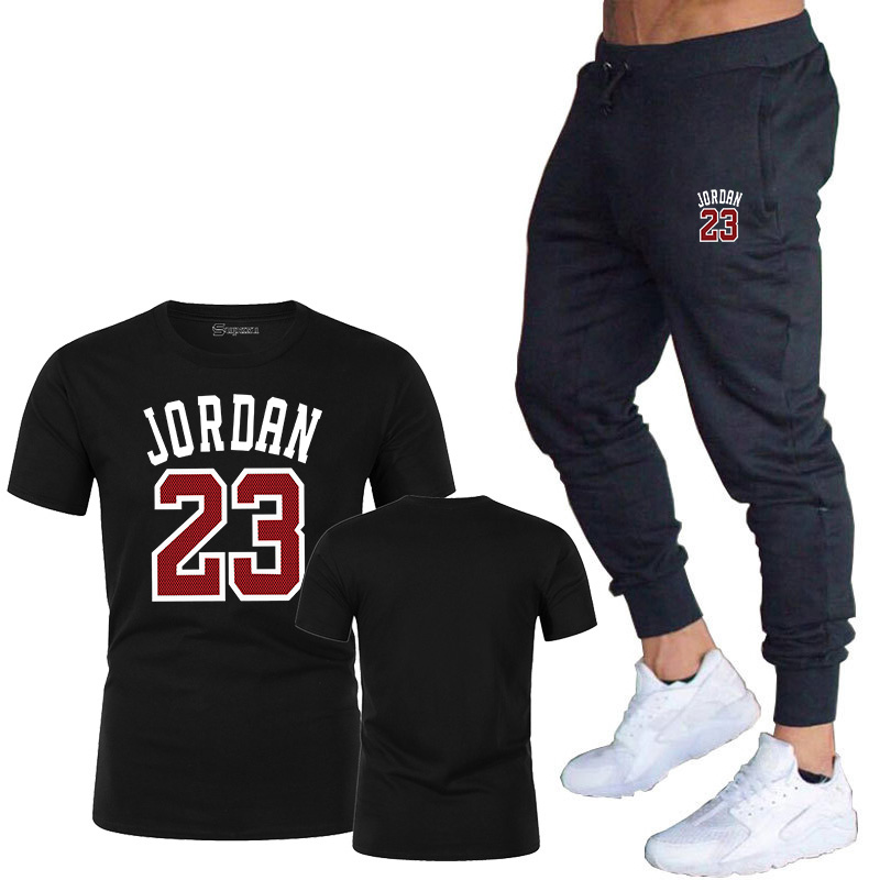 summer two piece set <font><b>jordan</b></font> <font><b>23</b></font> <font><b>short</b></font> set tracksuit men outfits casual streetwear sport suit jogging sweat suits t-shirt <font><b>shorts</b></font> image