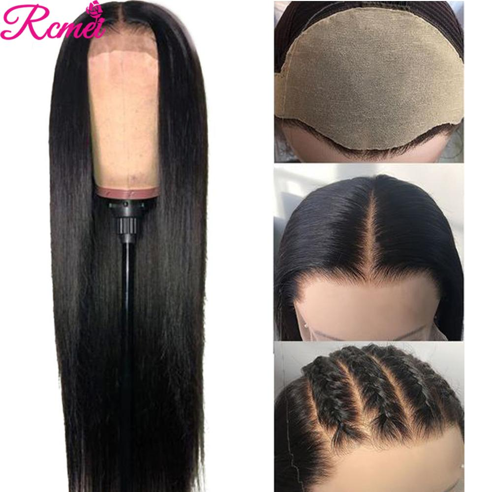 13x4 Lace Front Human Hair Wigs Pre Plucked Brazilian Straight Transparent Lace Frontal Wig With Baby Hair Remy Fake Scalp Wig