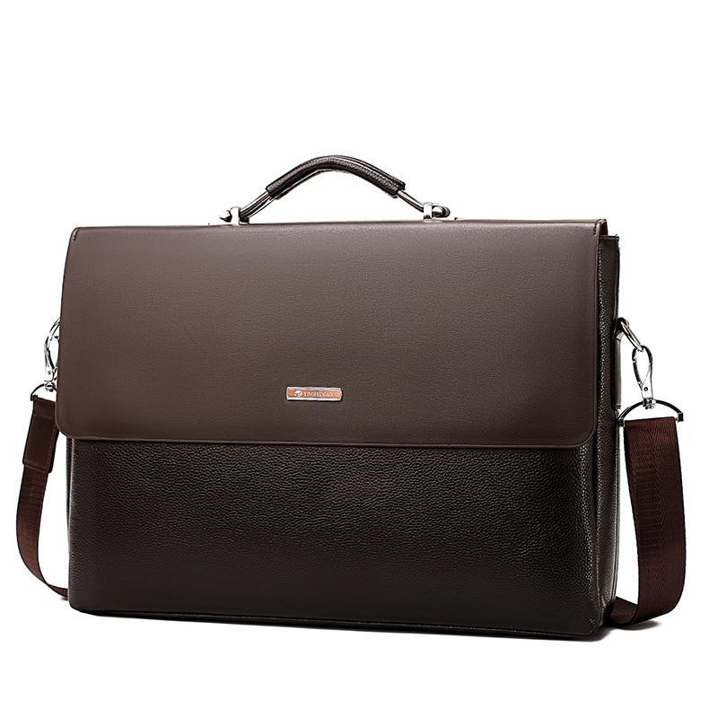 New Fashion Men Business Briefcases Crossbody Shoulder Bag Casual Office Man Briefcase Messenger Computer Leather Bag Handbag