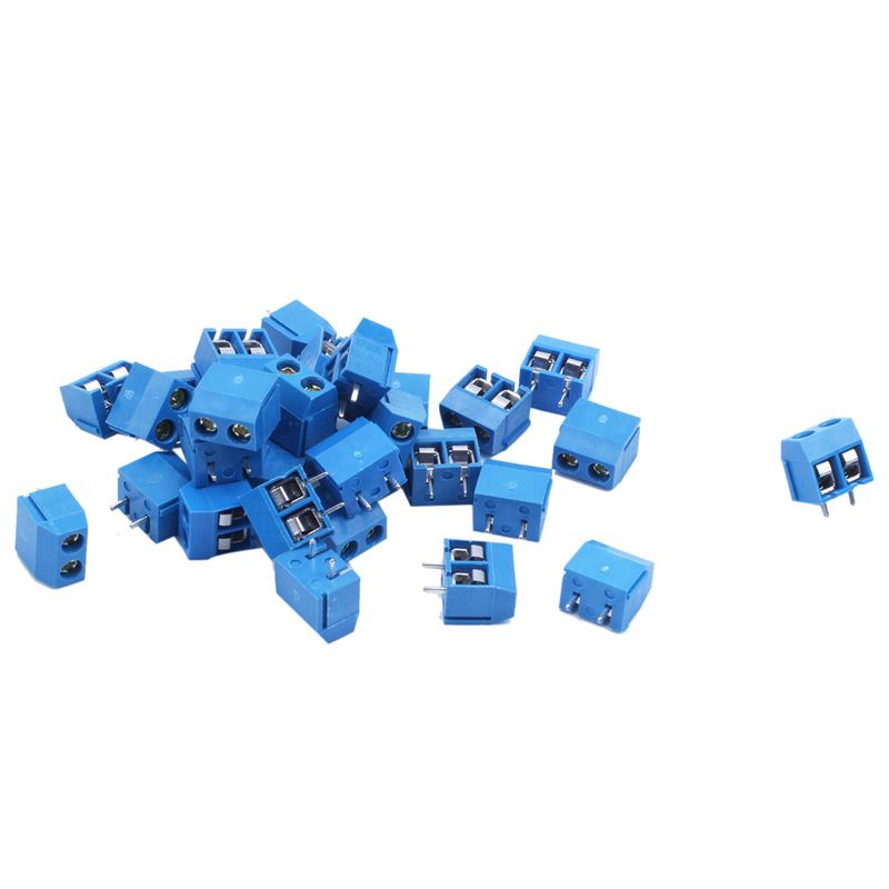 30 Pieces 5.08mm Pitch 2 Pin Connectors PCB Screw Terminal Block Power Supply Connector