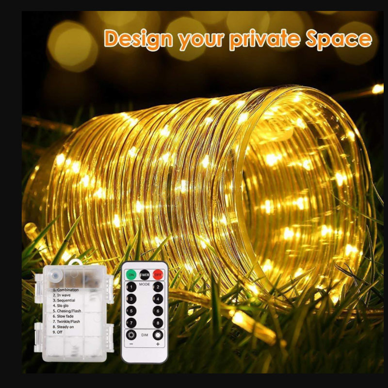 Fairy Lights Holiday LED String Lights Christmas Lights Outdoor Waterproof Rope Tube LED Garland Decoration Party Wedding