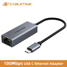 Cabletime usb c ethernet адаптер 100 Мбит/с к rj45 lan для ПК