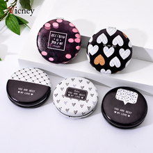 Vicney New Design Exquisite Fashion Princess Mirror Foldable Pocket Portable Makeup Fresh Simple Cosmetic Mirrors