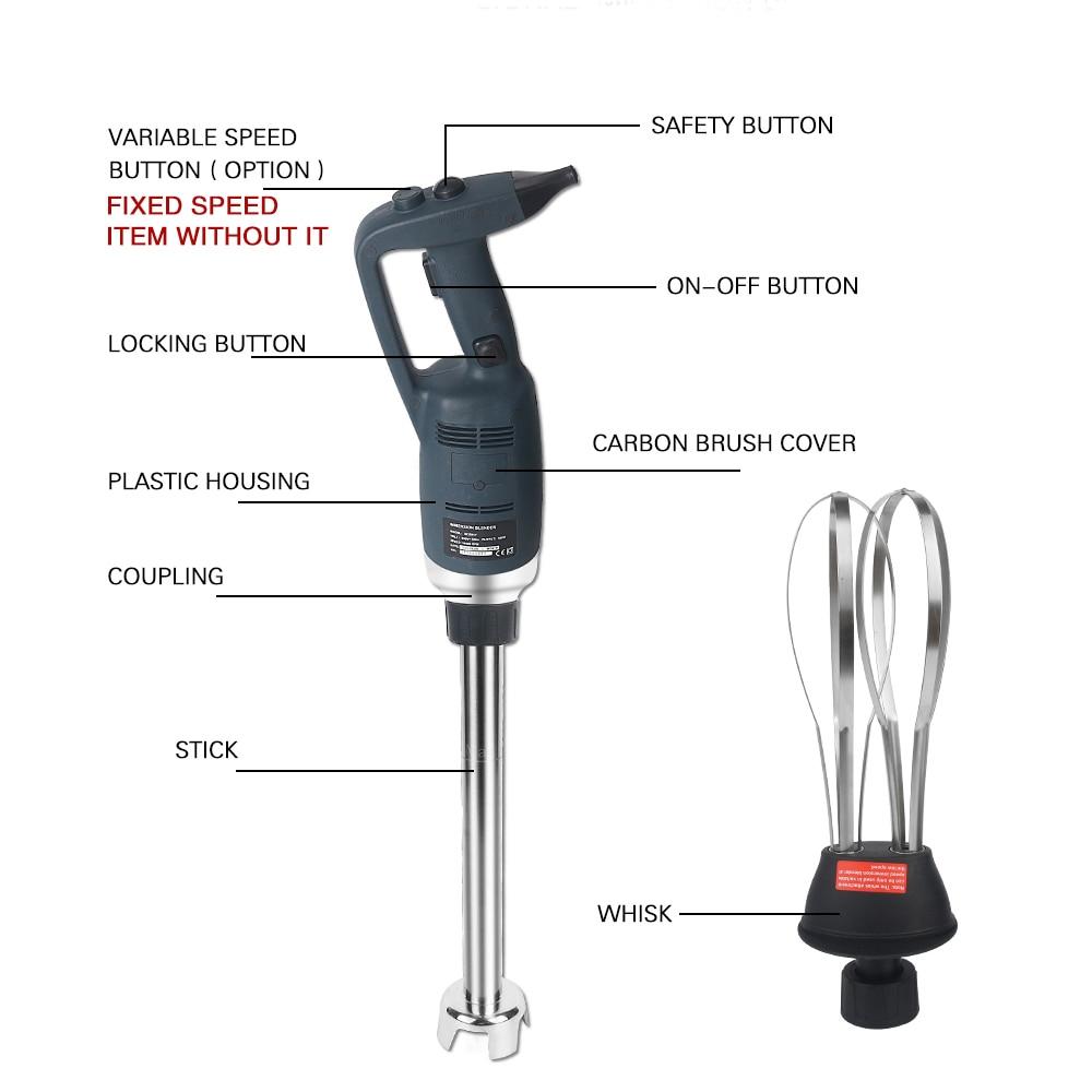 ITOP 500W High Speed Immersion Blender Commercial Heavy Duty Handheld Blender Smoothie Food Mixer Food Processors 110V/220V
