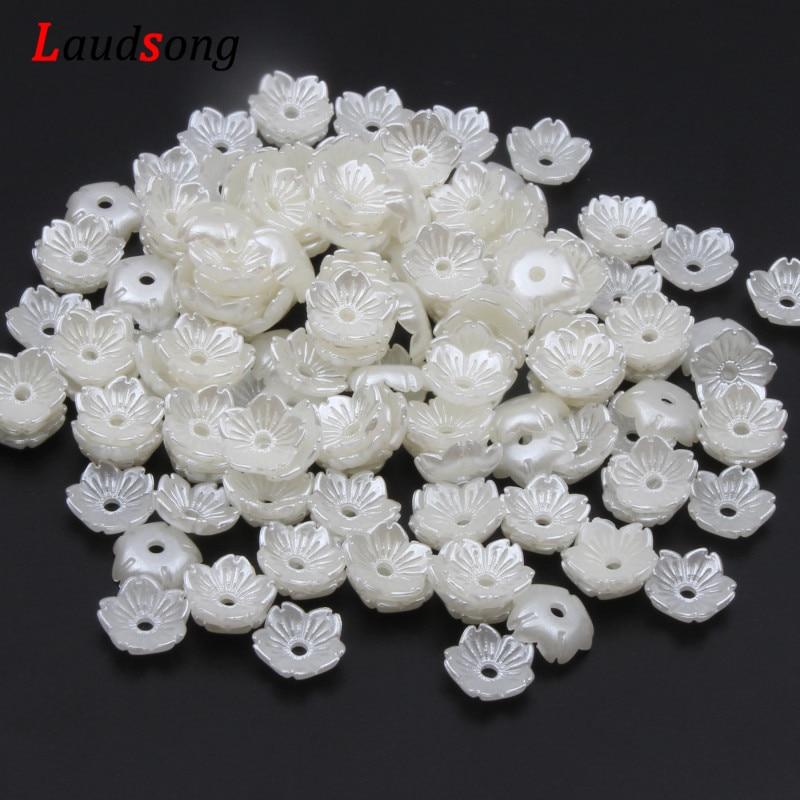 10pcs 10X4mm Flower Torus Ceramic Spacer Loose Beads Jewelry Making Craft DIY