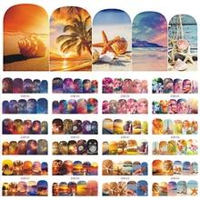12 thiết kế Sơn Móng Tay Dán Đề Can Nước Đi Biển Mùa Hè Bầu Trời Đầy Sao Hoa Thanh Trượt Móng Tay Nghệ Thuật Trang Trí Đầy Đủ Đeo Dụng Cụ Làm Móng BEBN853 864