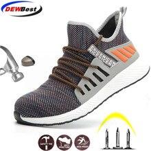 DEWBEST/рабочие ботинки; мужские уличные ботинки со стальным носком; мужская обувь с защитой от проколов; высокое качество; легкая защитная обувь