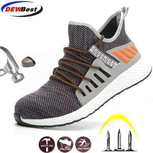 Image 1 - Safety Work Shoes Construction Men Outdoor Steel Toe Cap Shoes Men Puncture Proof High Quality Lightweight Safety Boots