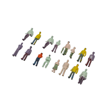 100pcs 1/75 scale model color figure toys architecture miniature painted people for diorama construction scene layout kits цена и фото