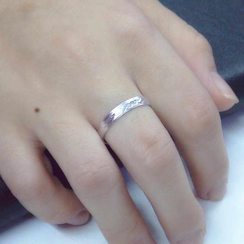 คลาสสิกแฟชั่นบางส่วนแคบ titanium แหวนผู้ชายและสตรีงานแต่งงานแหวนเรขาคณิตแหวนขนาดสุ่ม