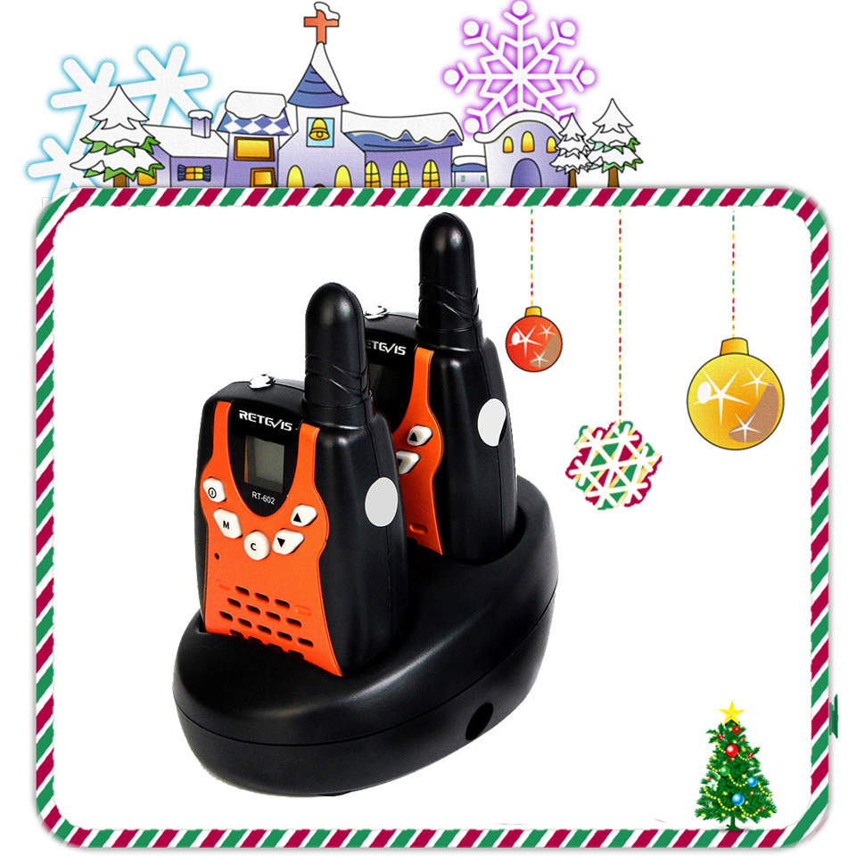 2pcs Retevis RT602 Kids Rechargeable Walkie Talkie PMR446 PMR 446MHz 0.5W Children Toy Two-way Radio Flashlight Christmas Gift