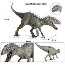 Grande única venda jurássica dinossauros parque pterosauria velociraptor indomirus t-rex mundo figuras dinossauro brinquedos animais modelo