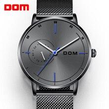 Erkek su geçirmez saatler deri kayış ince kuvars rahat iş erkek kol saati Top marka erkek saat 2019 moda