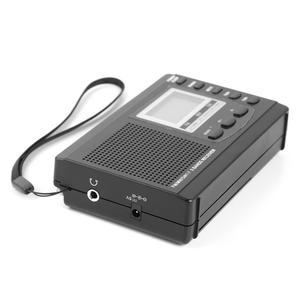 Image 3 - HRD 310ラジオfm mw swデジタルアラーム時計fm無線レシーバw/イヤホン音楽プレーヤースピーカー