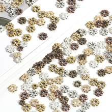 30-200 peças espaçador contas 4 5 6mm contas de metal 2mm buraco para diy jóias pulseira colar acessórios artesanais