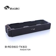 Bykski B RD360 TK60, radiadores triplos da fileira de 360mm, espessura de 60mm, radiadores refrigerando de água padrão, apropriados para ventiladores de 120*120mm