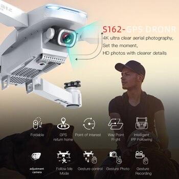 GPS Drone S162 RC Quadcopter with 5G WiFi FPV HD 4K Camera Foldable Quadrocopter VS E58 SG907 F11 XS812 E520S Dron Gift 2