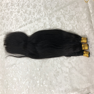 Прямые волосы QHP машинное производство, наращивание волос Remy 50 шт./компл. прямые кератиновые волосы I Tip