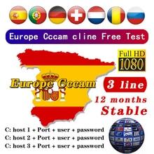 Самые стабильные линии в Европе 3/7 в 2020 году CCCams Испания Германия Польша Чили используется для спутникового приемника DVB-S2 и ТВ программы HD