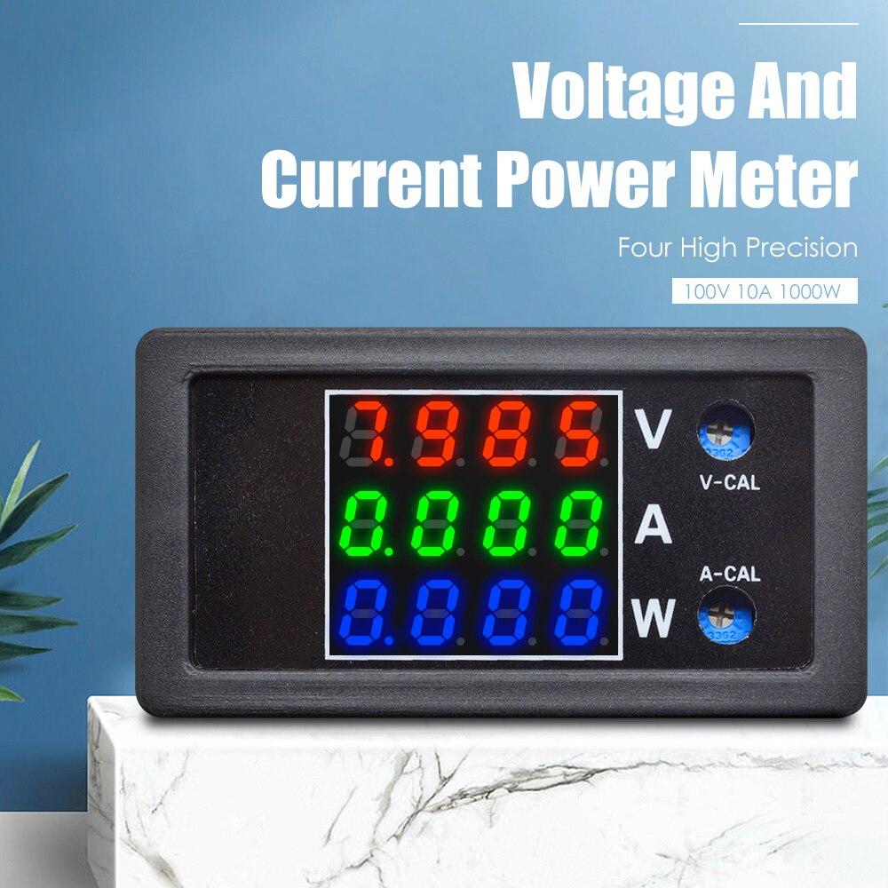 DC 0-100V 10A 1000W Digital LED Voltmeter Ammeter Wattmeter Voltage Current Power Supply Energy Meter Detector Tester Monitor
