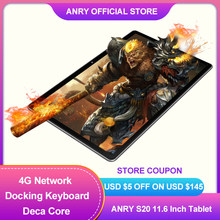 ANRY Tablet z androidem 11.6 Cal MTK6797T X25 Deca Core procesor 3G RAM 32G ROM 1920*1080 4G telefon Android 8.1 tablet Pc