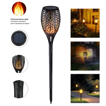 цена Solar powered LED Flame Lamp Waterproof 33LEDs Lawn Flame Flickering Torch Light Outdoor Solar LED Fire Lights Garden Decoration онлайн в 2017 году