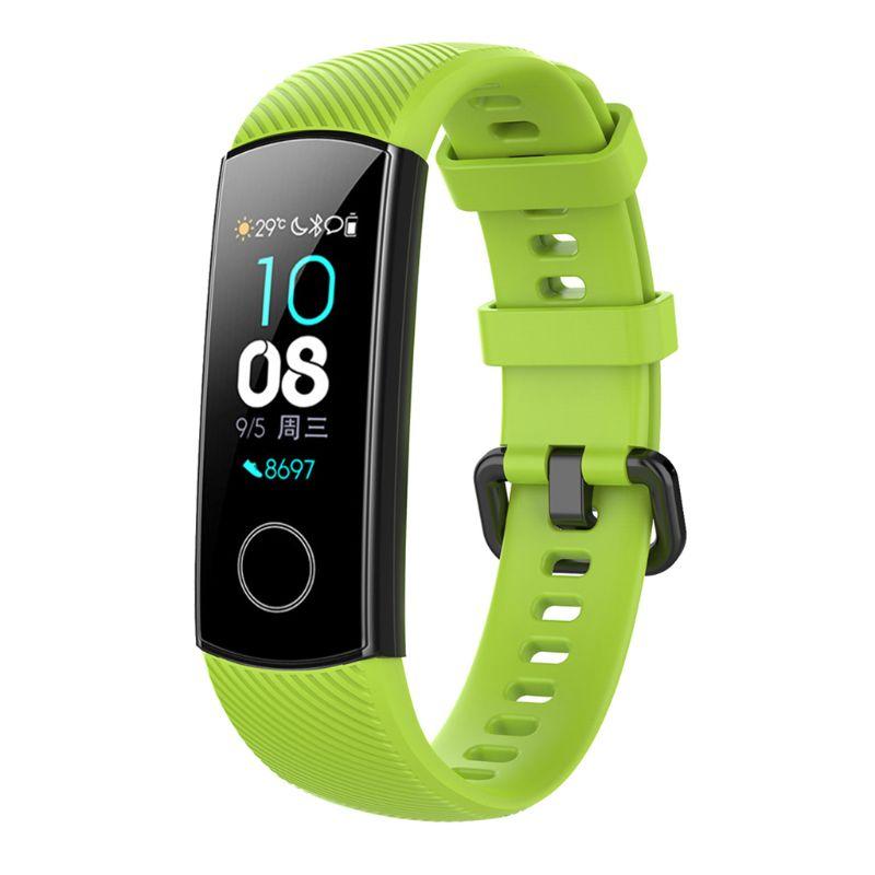 Против царапин мягкий силиконовый ремешок для часов спортивный ремешок Замена для huawei Honor 5/4 спортивный браслет аксессуары L41E - Цвет: GN