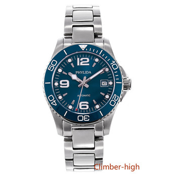 40mm Blue Dial Diver Watch Japan Miyota Automatic  Automatic Watches  Luminous Sapphire Crystal  Men's Mechanical Wristwatches parnis automatic watch 40mm deployment clasp miyota sapphire glass lume black dial mechanical watches relogio masculino gift